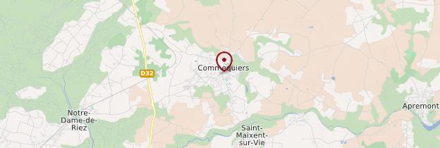 Carte Commequiers - Pays de la Loire