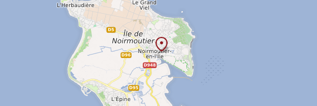 Carte Noirmoutier-en-l'Île - Pays de la Loire