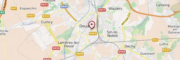 Carte Douai - Nord-Pas-de-Calais