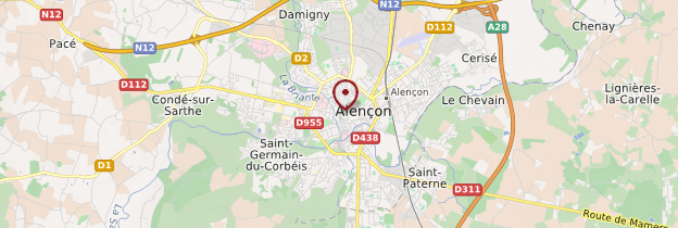 Carte Alençon - Normandie