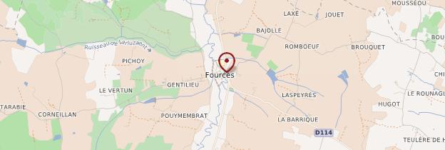 Carte Fourcès - Midi toulousain - Occitanie