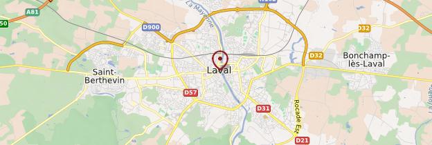 Carte Laval - Pays de la Loire
