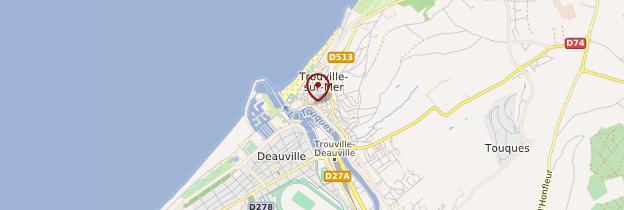 Carte Trouville-sur-Mer - Normandie