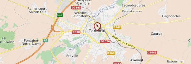 Carte Cambrai - Nord-Pas-de-Calais