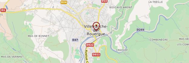 Carte Villefranche-de-Rouergue - Midi toulousain - Occitanie