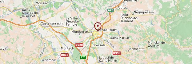 Carte Montauban - Midi toulousain - Occitanie
