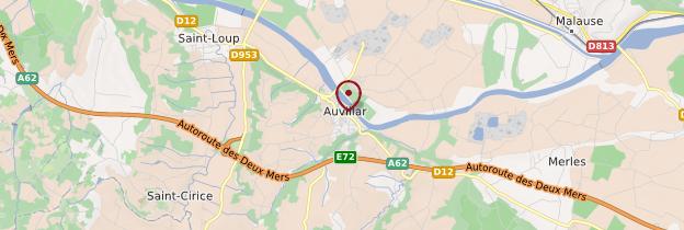Carte Auvillar - Midi toulousain - Occitanie