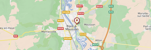 Carte Pont-à-Mousson - Lorraine