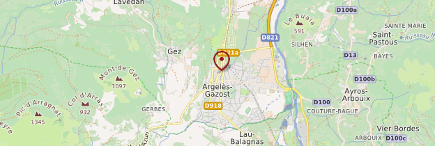 Carte Argelès-Gazost - Midi toulousain - Occitanie