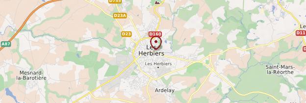 Carte Les Herbiers - Pays de la Loire