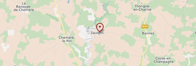 Carte Saulges - Pays de la Loire