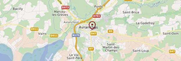 Carte Avranches - Normandie