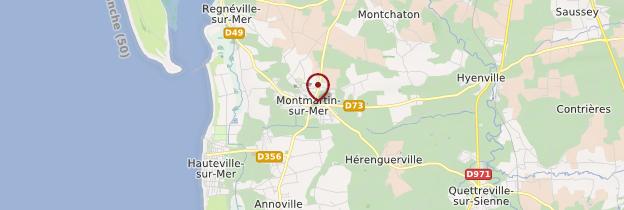 Carte Montmartin-sur-Mer - Normandie