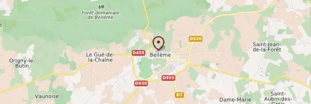 Carte Bellême - Normandie