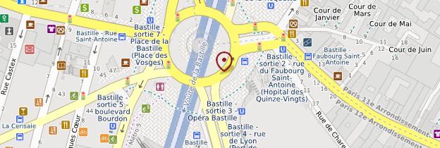 Carte Place de la Bastille - Paris