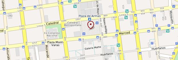Carte Plaza de Armas - Chili
