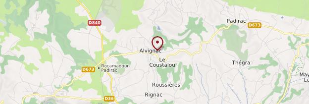Carte Alvignac - Midi toulousain - Occitanie