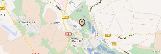 Carte Arques-la-Bataille - Normandie