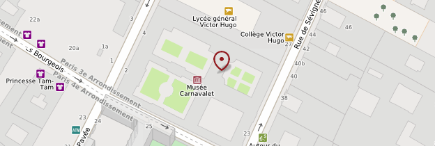 Carte Musée Carnavalet - Paris