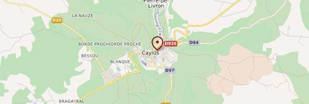Carte Caylus - Midi toulousain - Occitanie