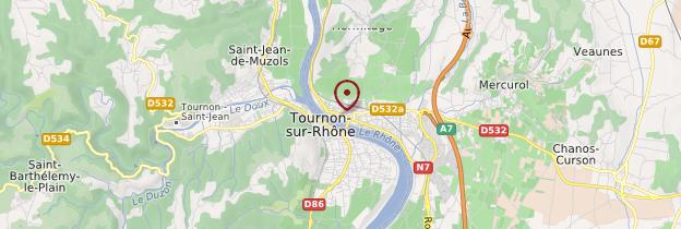 Carte Tain-l'Hermitage - Ardèche, Drôme