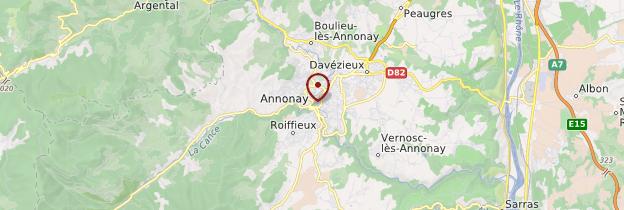 Carte Annonay - Ardèche, Drôme