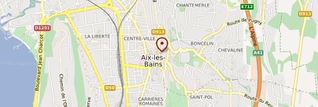 Carte Aix-les-Bains - Alpes