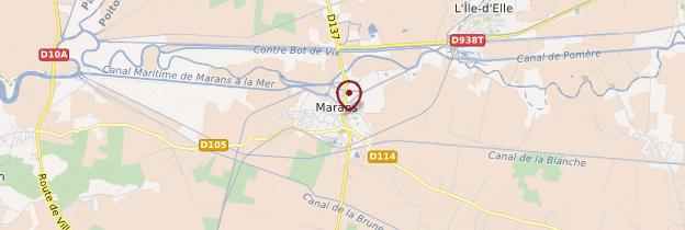 Carte Marans - Poitou, Charentes