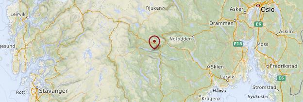 Carte Telemark - Norvège