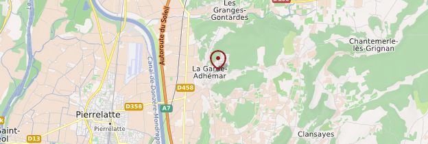 Carte La Garde-Adhémar - Ardèche, Drôme