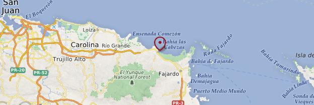 Carte Luquillo - Porto Rico