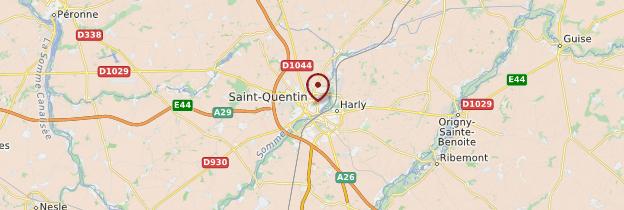 Carte Saint-Quentin - Picardie