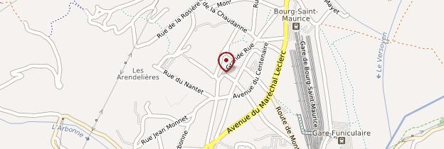 Carte Bourg-Saint-Maurice - Alpes