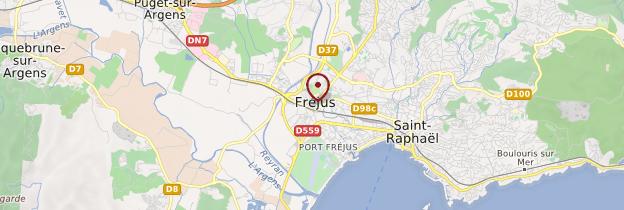 Carte Fréjus - Côte d'Azur