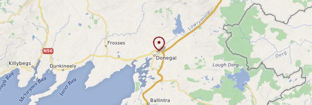 Carte Donegal (Dún an nGall) - Irlande