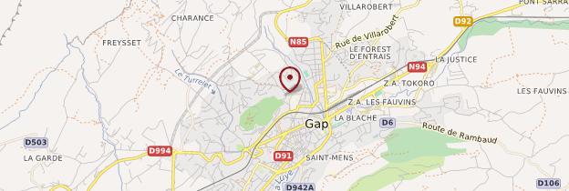 Carte Gap - Alpes