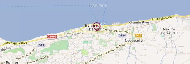 Carte Évian-les-Bains - Alpes