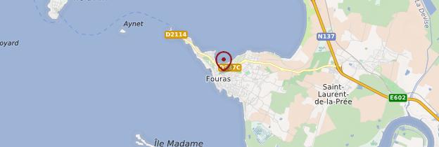 Carte Fouras - Poitou, Charentes