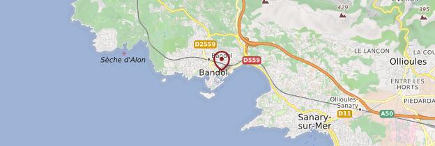 Carte Bandol - Côte d'Azur