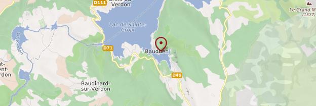 Carte Bauduen - Côte d'Azur