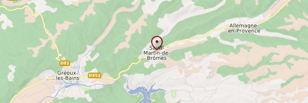 Carte Saint-Martin-de-Brômes - Provence