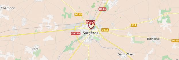 Carte Surgères - Poitou, Charentes