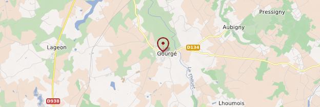 Carte Gourgé - Poitou, Charentes