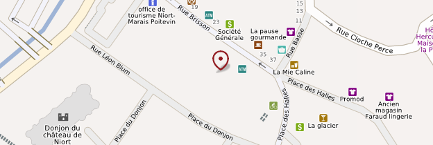 Carte Halle de Niort - Poitou, Charentes