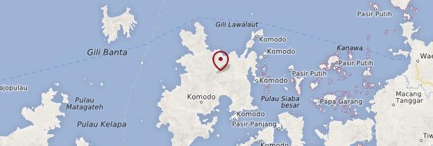 Carte Parc national de Komodo - Indonésie