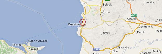Carte Kusadasi - Turquie