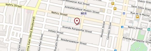 Carte Marché de Pondichéry (Market) - Inde