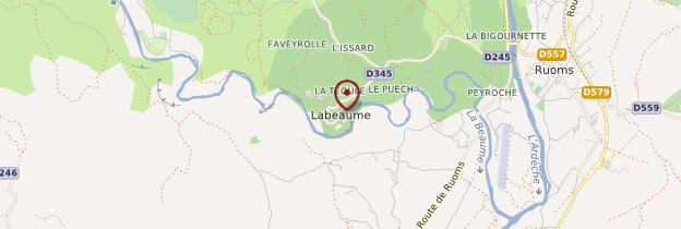 Carte Labeaume - Ardèche, Drôme