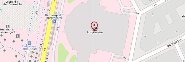 Carte Burgtheater (théâtre national) - Vienne