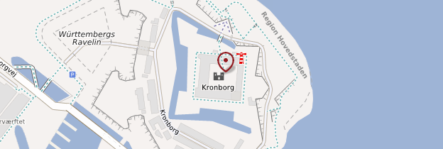Carte Château de Kronborg - Danemark
